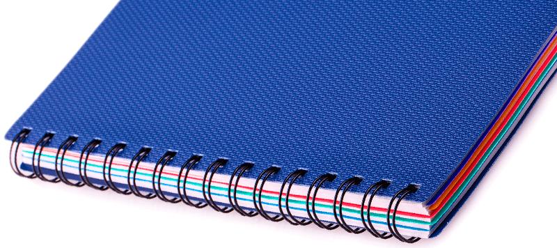 wireo y espiral en distintos colores y diseños en Tubookdigital